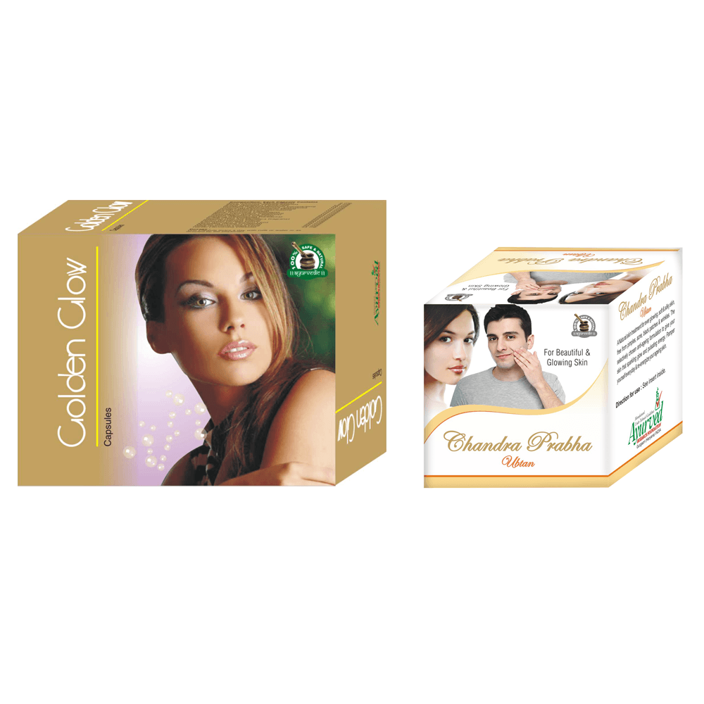 Golden Glow Capsules and Chandra Prabha Ubtan