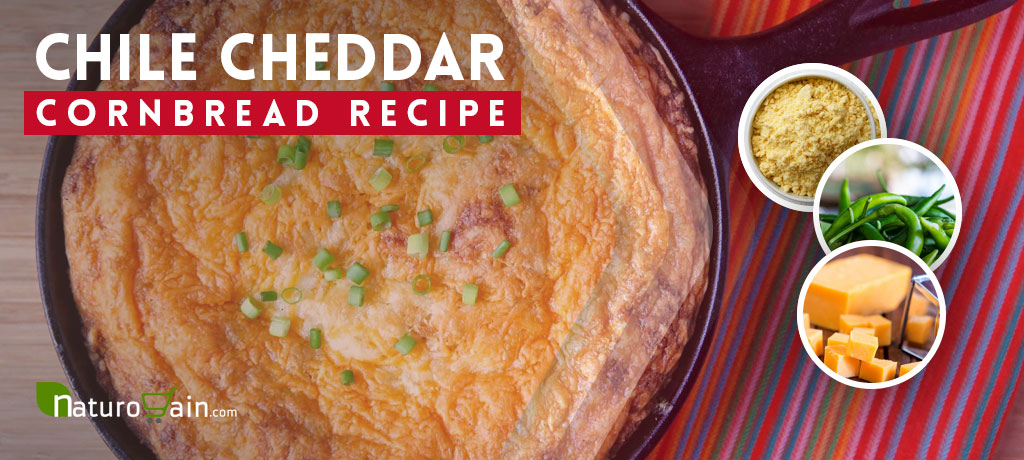 Zesty Chile Cheddar Cornbread Recipe