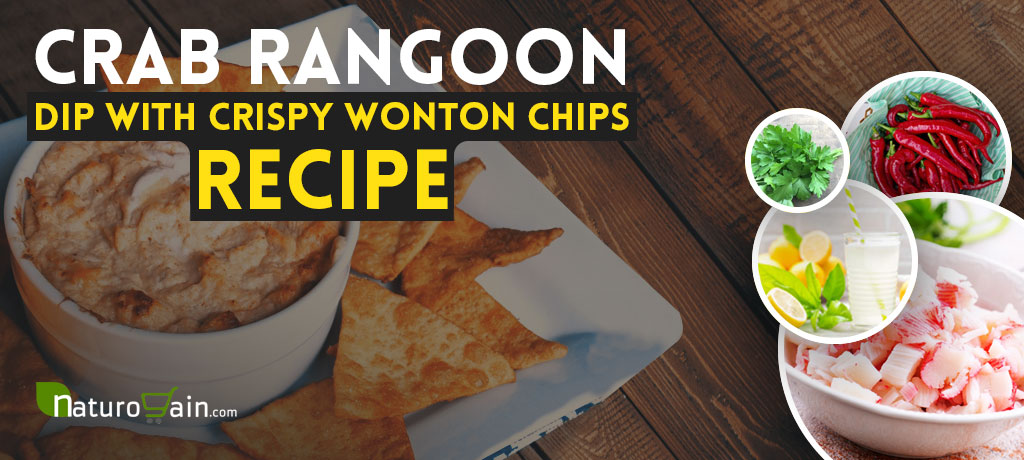Crab Rangoon Dip with Crispy Wonton Chips Recipe