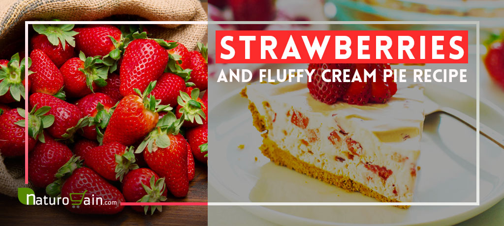 Strawberries and Fluffy Cream Pie Recipe