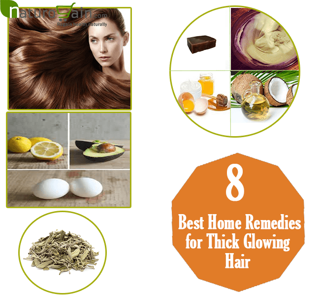 Home Remedies for Thick Glowing Hair