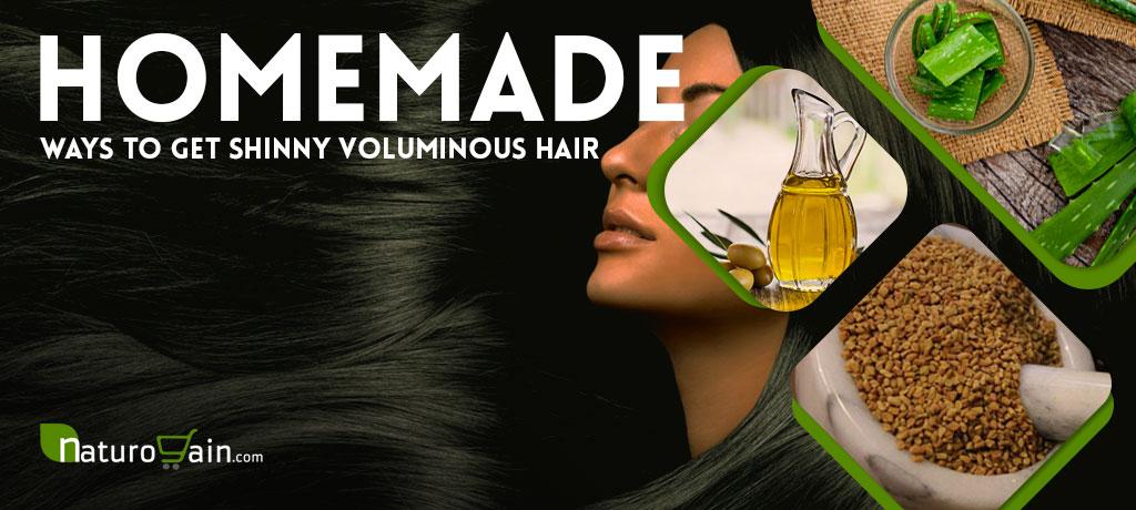 Homemade Ways to Get Shinny Voluminous Hair