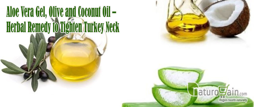Aloe Vera Gel Olive Herba Remedy to Tighten Turkey Neck