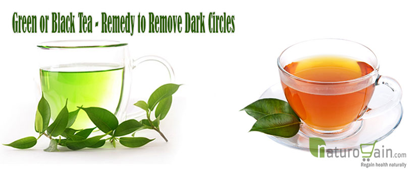 Green or Black Tea Remedy to Remove Dark Circles