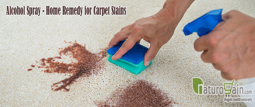 Alcohol Spray Home Remedy for Carpet Stains