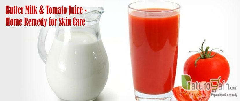 Butter Milk and Tomato Juice
