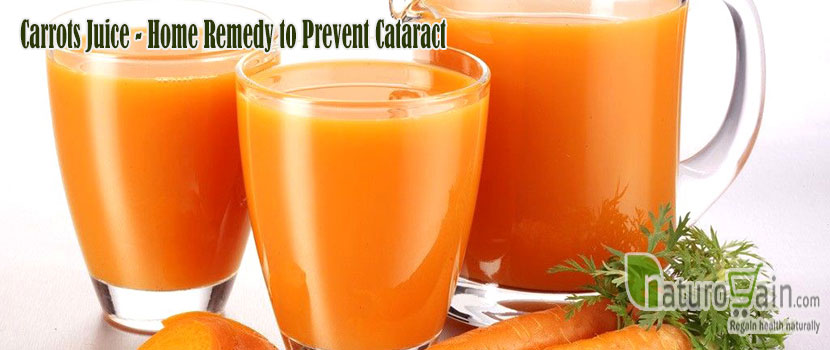 Carrots Juice Remedy to Prevent Cataract