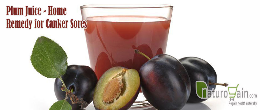 Plum Juice Home Remedy for Canker Sores