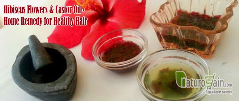 Hibiscus Flowers and Castor Oil