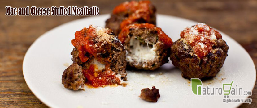 Mac Andcheese Stuffed Meatballs