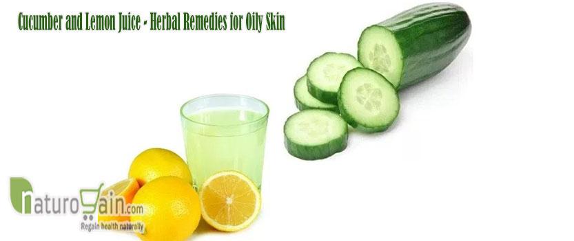 Cucumber and Lemon Juice