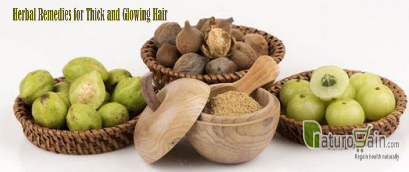 Herbal Remedies for Thick and Glowing Hair