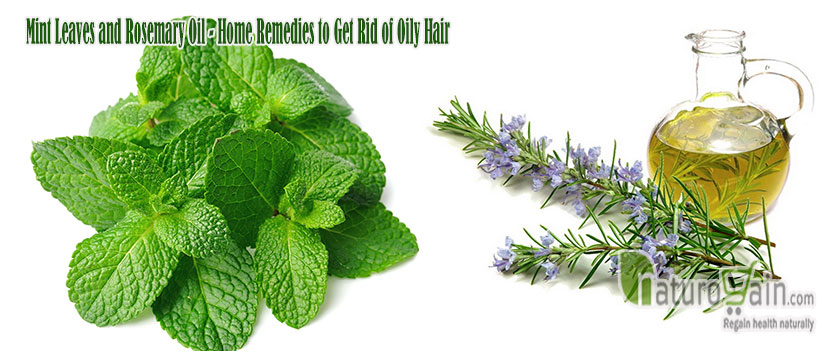 Mint Leaves and Rosemary Oil