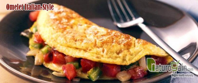 Omelett italienischen Stil
