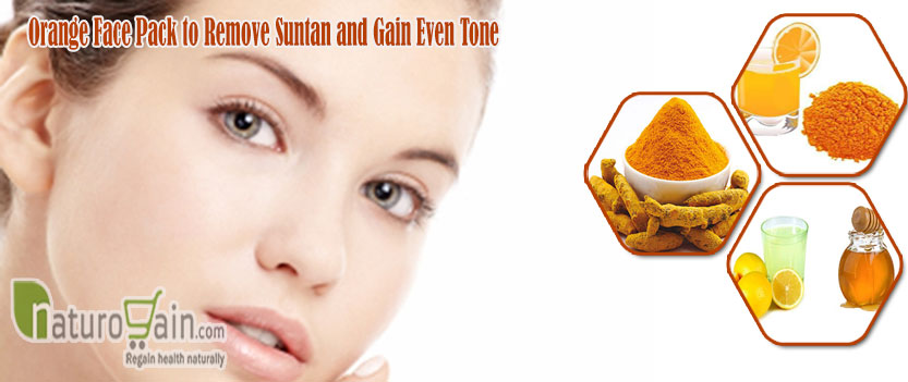 Orange Face Pack to Remove Suntan