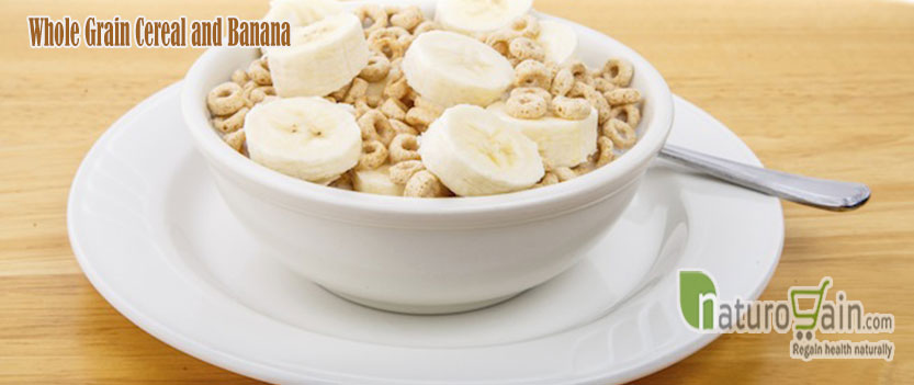 Whole Grain Cereal and Banana