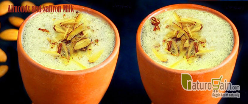Almonds and Saffron Milk