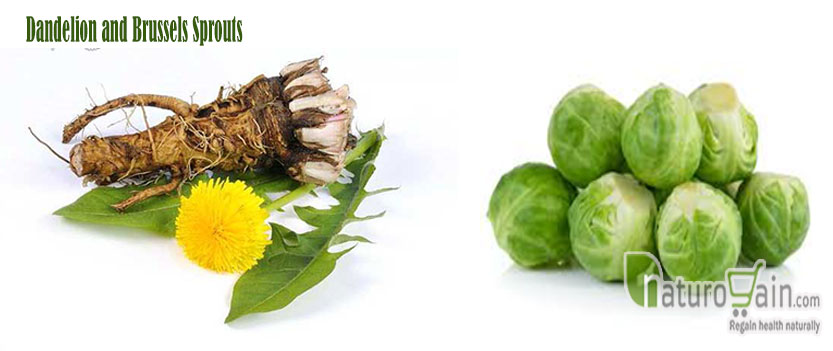 Dandelion and Brussels Sprouts