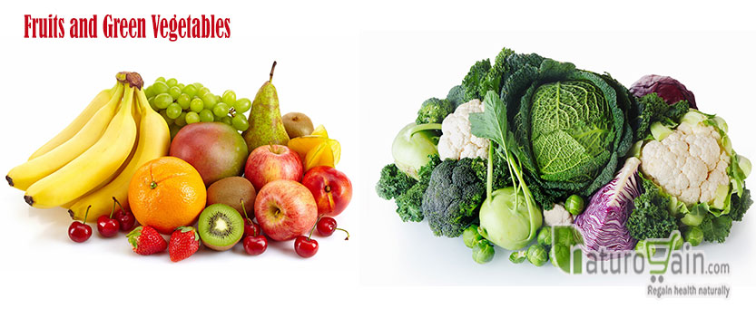 Fruits and Green Vegetables