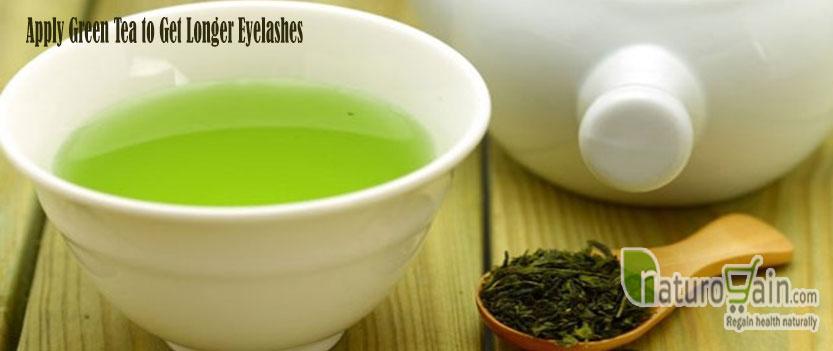 Greeb Tea to Get Longer Eyelashes