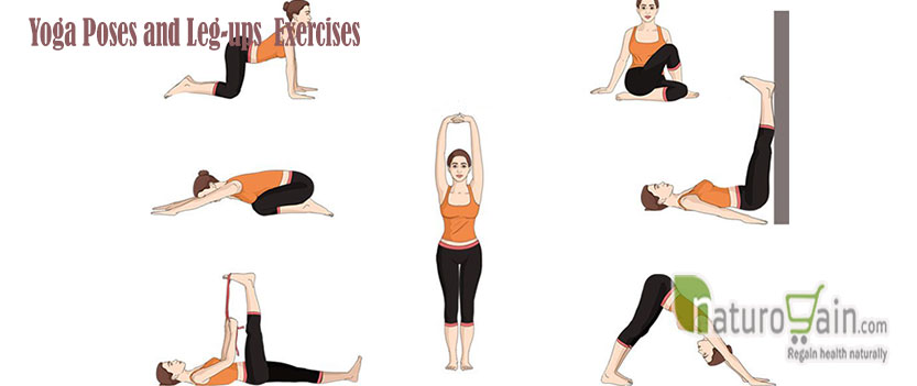 Yoga Poses and Leg up Exercises