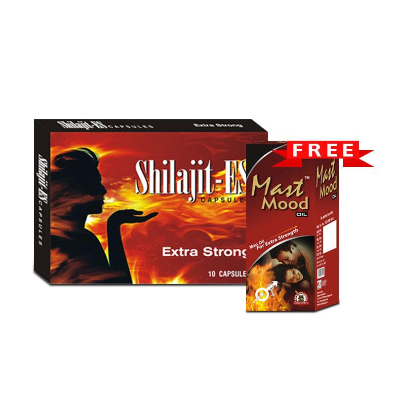 Shilajit Capsules and Mast Mood Oil